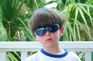 Jax is so cool, he wears his sunglasses crooked.